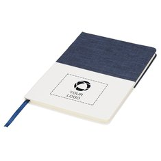 Bullet™ Two-Tone A5 Canvas Notebook