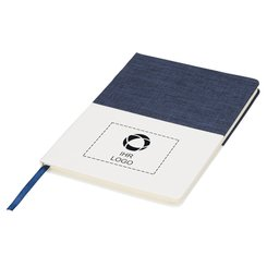 Zweifarbiges A5-Notizbuch aus Segeltuch von Bullet™