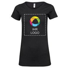 Lang geschnittenes Damen-T-Shirt aus Fashionstretch von Tee Jays®