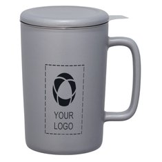 Tulsa Tea & Coffee Ceramic Mug With Lid 14oz