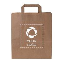 Budget Paper Bag Medium with Flat Handles