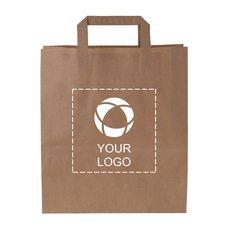 Voordelige papieren tas middelgroot met platte hengsels