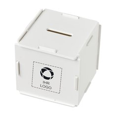 Quadratische Kunststoff-Spardose Collect von Bullet™