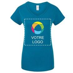 T-shirt femme à col en V Softstyle GildanMD