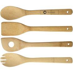 Juego de 4 utensilios de cocina con soporte Baylow de Seasons™