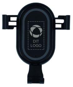 Laus Light telefonholder med trådløs opladning med laserindgravering