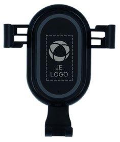 Laus Light lasergegraveerde telefoonhouder met draadloze oplader