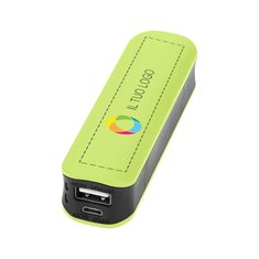 Caricabatterie portatile Edge Bullet™ da 2000 mAh con stampa a colori