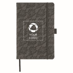 Luxe™ Lace A5-size notebook and pen gift set