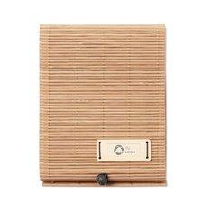Bloc de notas de bambú Cortina grabado con láser