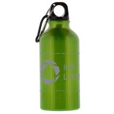 Lasergravierte Trinkflasche Oregon mit Karabiner, 350ml