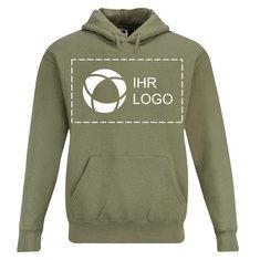 Premium-Kapuzensweatshirt von Fruit of the Loom® mit Siebdruck