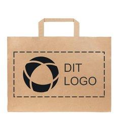 Take Away stor papirpose med flade bærehåndtag