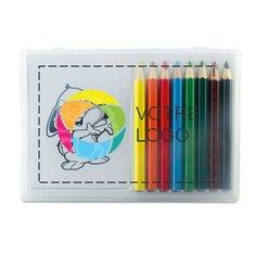 Coffret de crayons en bois Recreation imprimé en couleur