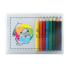 Set di matite di legno colorate per il tempo libero con stampa a colori