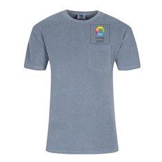 Chemise teinte à manches courtes et avec une poche de ComfortColorsMC