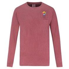 T-shirt à poche et à manches longues teint de ComfortColorsMC