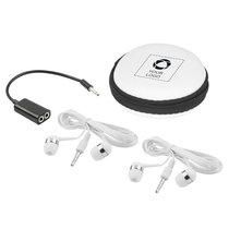 Sound Off Earbuds & Splitter with Case