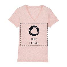 Veganes Damen-T-Shirt Stella Evoker mit V-Ausschnitt und einfarbigem Druck