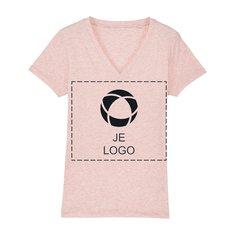Stella Evoker veganistisch dames-T-shirt met V-hals en drukwerk in 1 kleur