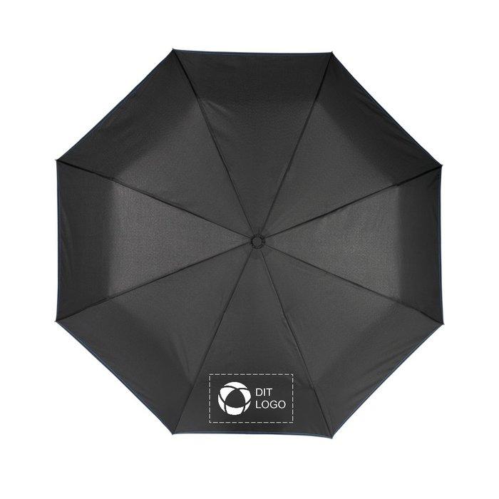Avenue™ Stark-mini sammenfoldelig automatisk paraply på 58 cm