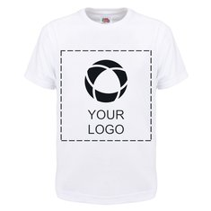Fruit of the Loom® Single colour print Kids 100% Cotton T-Shirt