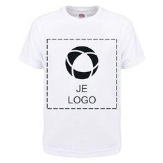 Fruit of the Loom® 100% Katoenen T-shirt met enkele kleurenopdruk voor kinderen