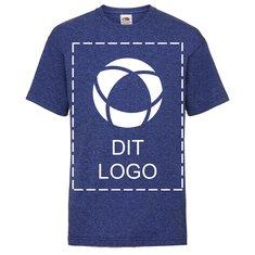 Fruit of the Loom® valueweight T-shirt til børn – enkeltfarvetryk på fuld forside og fuld bagside