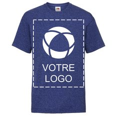 T-shirt enfant Valueweight de Fruit of the Loom®, impression monochrome sur le devant et au dos