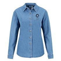 Port & Company® Ladies Long Sleeve Value Denim Shirt