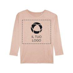 Maglietta a maniche lunghe da donna con spalle cascanti e stampa monocolore Stella Turns Slub