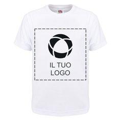 Maglietta da bambino con stampa monocolore 100% cotone Fruit of the Loom®