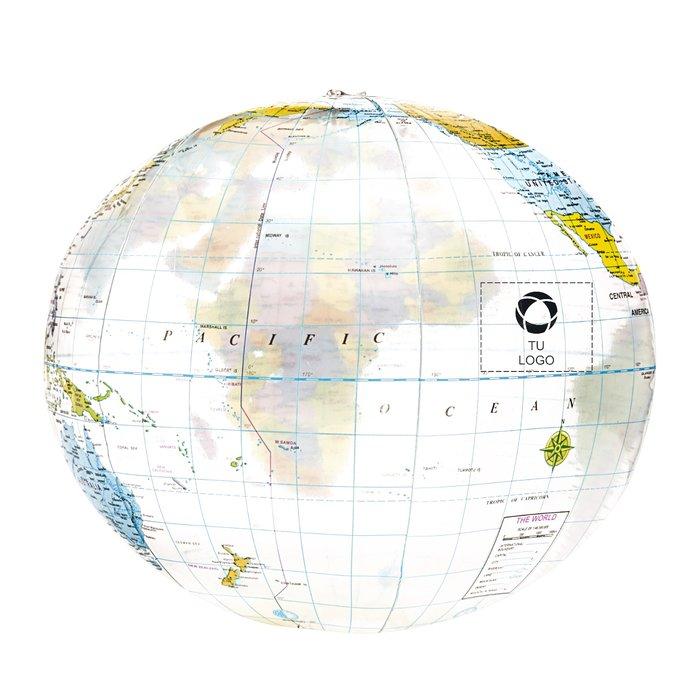 Balón de playa con estampado de mapamundi de Bullet™