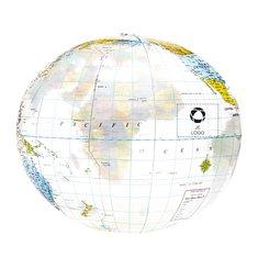 Strandbal met wereldbolopdruk