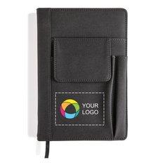 Notesbog med mobiltelefonlomme