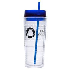 Hot And Cold Swirl Double-Wall 20-Ounce Tumbler