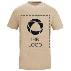 Herren-T-Shirt Nanaimo von Elevate™ mit Kurzarm, einfarbiger Druck