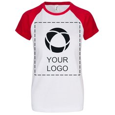 Damen-T-Shirt Milky von Sol's® mit Kurzarm und einfarbigem Druck