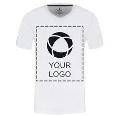 Herren-T-Shirt Kawartha mit V-Ausschnitt und Kurzarm von Elevate™, einfarbiger Druck