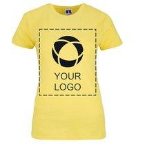 Russell™ 100% ringgesponnen katoenen Dames-T-shirt met slanke pasvorm en enkele kleurenopdruk