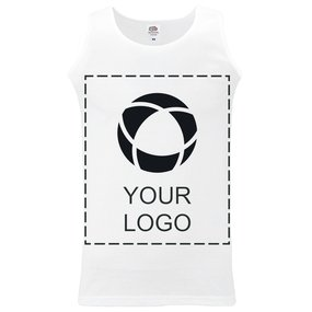 Camiseta deportiva sin mangas con estampado monocolor de Fruit of the Loom® para hombre
