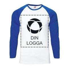Fruit of the Loom® långärmad T-shirt i herrmodell med enfärgat tryck