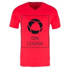 Elevate™ Kawartha kortärmad T-shirt med V-ringning i herrmodell, enfärgat tryck