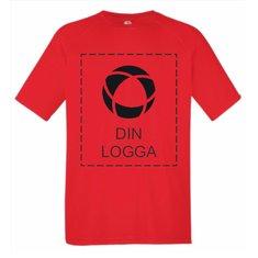 Fruit of the Loom™ Performance T-shirt, med enfärgat tryck