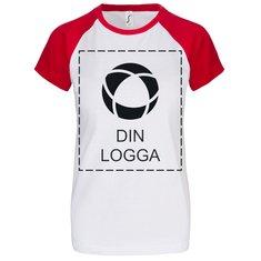 Sol's® Milky kortärmad T-shirt i dammodell, enfärgat tryck