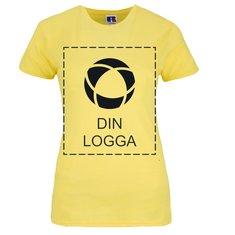 Enfärgad snäv T-shirt i dammodell från Russell™, av 100% ringspunnen bomull