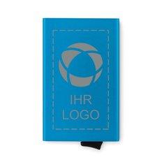 RFID-Kartenetui SecurePush aus Aluminium mit Lasergravur