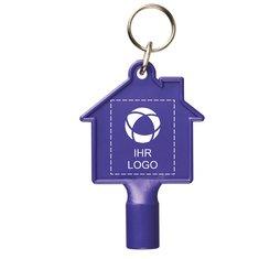 Hausförmiger Zählerkastenschlüssel mit Schlüsselanhänger Maximilian von Bullet™
