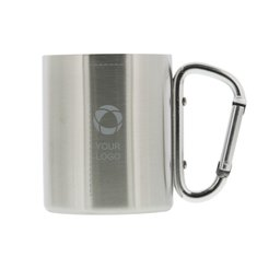Isolating Carabiner Mug Laser Engraved