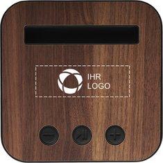 Textil- und holzverkleideter Bluetooth®-Lautsprecher Shae von Avenue™